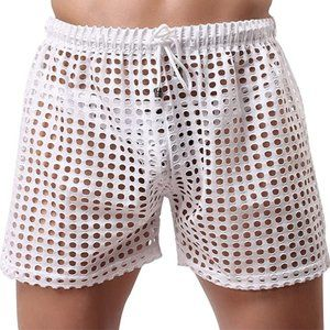 ❄ Woxuan | Men's see-through mesh boxer brief